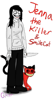 Jenna the Killer and Smilecat by Cephei97