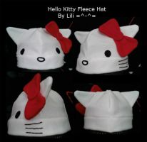 Hello Kitty Fleece Hat by LiliNeko