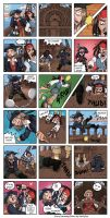 PotC Jack and Barbossa comic by by-blood-undone