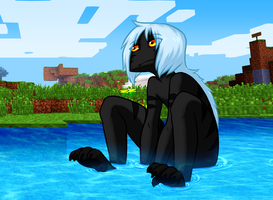 Sat in the water by Arlymone
