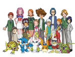 Digimon Adventure 02 Group v1 by Moelleuh