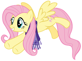 Fluttershy guiding other ponies by Tardifice