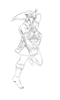 The Hero of Legend - Link lineart by Ecumeless