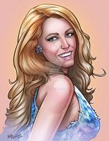 Portait of Blake Lively by kpetchock