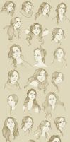 The many faces of Ms Everdeen by Ninidu