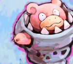 mega slowbro by SailorClef