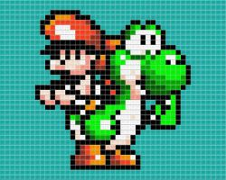 Baby Mario Tiled by drsparc