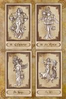 Tarot cards XX to XXIII by Karla-Chan