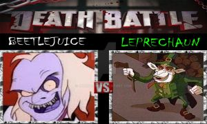 Beetlejuice Vs Leprechaun (Cartoon Version)  by ARTIST-SRF