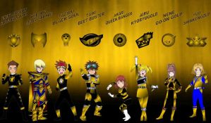 Digimon Gokaiger Golds by rangeranime