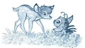 Bambi meets someone by Lilostitchfan