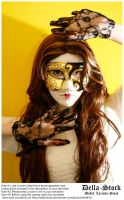Masked Woman by Della-Stock
