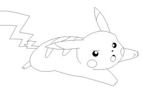 Pikachu Lineart 3 by Anime-Bases-Free