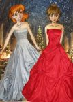 Hermione Ginny at the YuleBall by louloudia1983