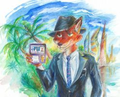 Nick Wilde from the FBI by FurryTiger