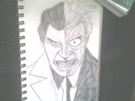 quick two face sketch by ThomasDrawsStuff