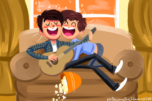 Draw to the Song #4 - Jackie and Wilson by Hozier by Rawri-Tea
