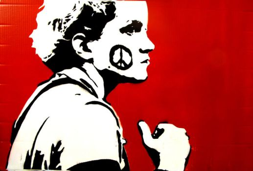 Stencil - Protest by color-me-red