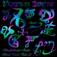 Shadowhunter RUNES Brushes II by ReachForTheStarfish