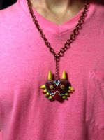 Majora's Mask Necklace by cadavis3