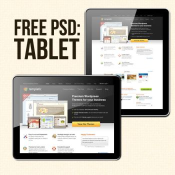Free PSD tablet by thearslan