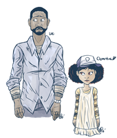 Scrap: Lee and Clementine Practice by Shellsweet
