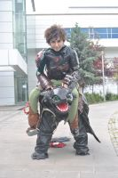 Hiccup and Toothless by KirinCosplay