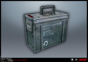 SYNDICATE concept - ammo refill box (CO-OP) by torvenius