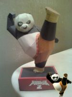 Kicking Po (Kung Fu Panda) Papercraft Finished by rubenimus21