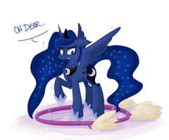 Luna caught by a Dreamcatcher by Xieril