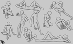 Practicing: Male poses by Baztey