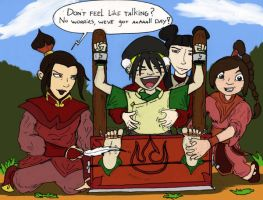 Toph tickled in stocks by kaasmeisjeNL