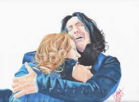 Lilly and Snape by 0niVIRexe