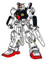 RX-178Bst. Gundam Mark II High Mobility Type by Positroneidon