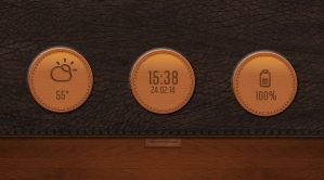 Leather Buttons for xwidget by jimking