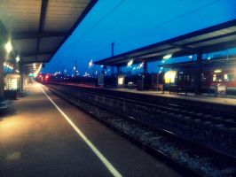waiting for the train to come by Mittelfranke