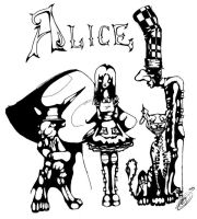 Alice and the crew by Safauna