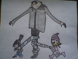 Gru's despicable Kids by InvaderMegLuvsZim