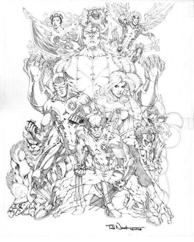 X-Men 2008 pencils by ToddNauck