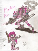 Pinkie Pie. Pen and Marker. by CommanderCanteets