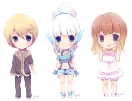 sketch chibi commissions by Yoai