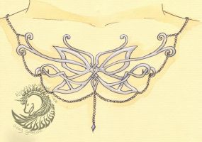 Butterfly Necklace by Alcanzana