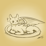 Toothless crosshatch sketch by streetdragon95