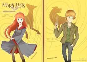 The Marauders Cover- Lily Potter and Remus Lupin by Darukii