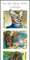 Fur the 'More 2013 Conbadges by windfalcon