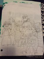 Some old doodle from 6th grade reading class. by BowserHusky