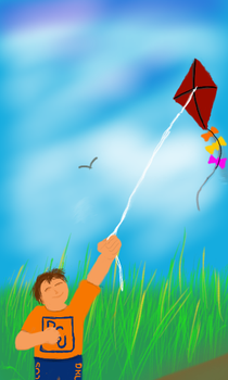 flying a kite by ariesj007