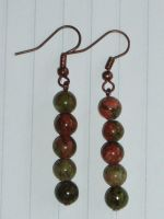 Unakite Earrings 2 by Lost-in-the-day
