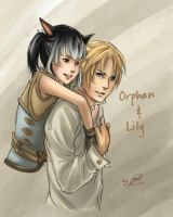 Commission - Orphan and Lily by Nim-lock
