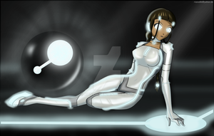 Katara goes Tron by Rosvo